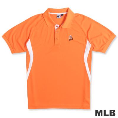 MLB-巴爾的摩金鶯隊開釦式排汗POLO衫-桔(男)
