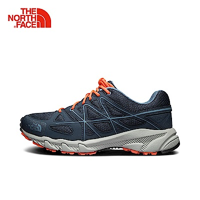 The North Face北面女款橘藍抓地耐磨徒步鞋