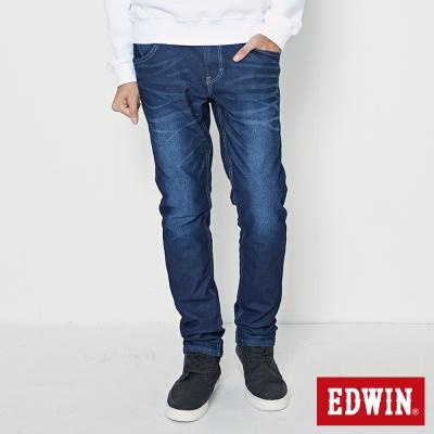 EDWIN AB褲 迦績褲JERSEYS仿紅布邊繡花牛仔褲-男-酵洗藍