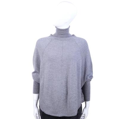 BLUGIRL-100-LANA-灰色高領長袖上衣