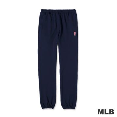MLB-波士頓紅襪隊LOGO電繡厚棉長褲-深藍色(男)