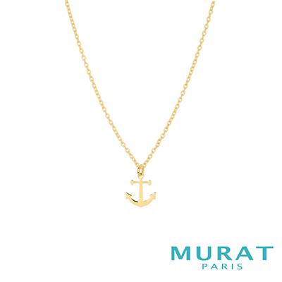 MURAT Paris米哈巴黎 海軍船錨項鍊(金色款)