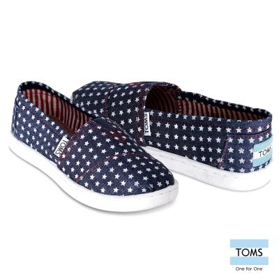 TOMS 星空帆布懶人鞋-孩童款(藍)