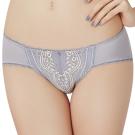思薇爾 啵時尚花心思系列M-XL蕾絲低腰三角內褲(紫藤灰)