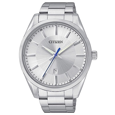 CITIZEN星辰 菁英時尚男性石英腕錶(BI1030-53A)-銀/42mm