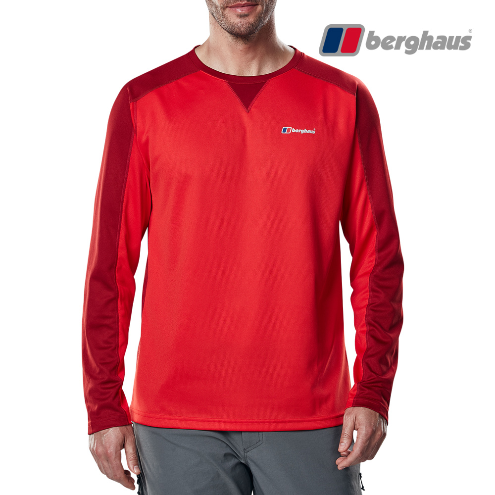 【Berghaus貝豪斯】男款銀離子除臭抗菌抗UVT恤S15M20-紅