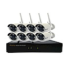 免配線/免設定1080P八路式無線監視系統套裝一機八鏡頭附2TB