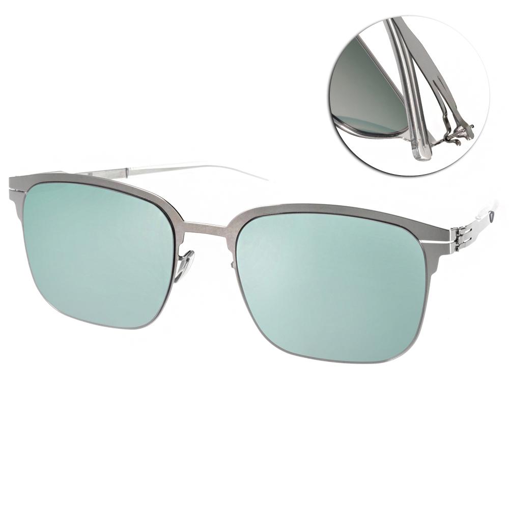ic!berlin太陽眼鏡 薄鋼代表作/銀-水銀鏡面#MATHIAS B CHROME