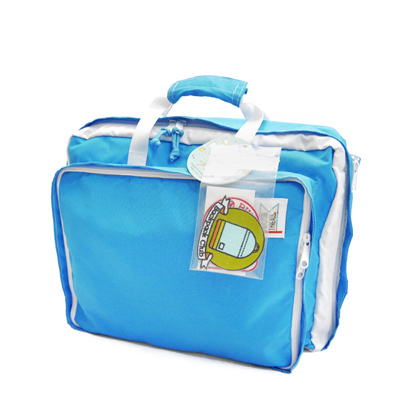 MOKUYOBI / Bedford Bag /L.A空運繽紛多功能筆電手提後背包-天空藍