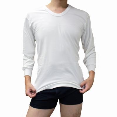 BVD 日本製雙層暖棉 U領8分袖保暖衣(白色) XL