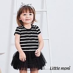 Little moni 條紋紗裙包屁衣 (2色可選)