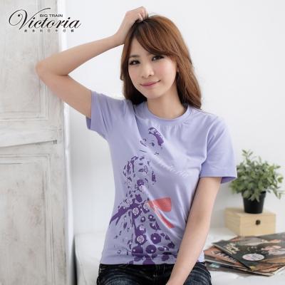 Victoria 玫瑰女伶印花TEE-女-粉紫