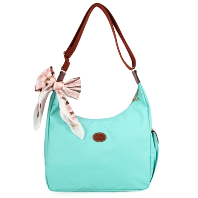Longchamp 豔彩繽紛大斜背包-薄荷綠