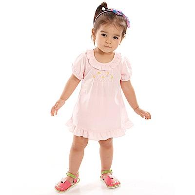 愛的世界 MYBABY 純棉洋裝兩件式包屁衣套裝/ 6 M~ 3 歲