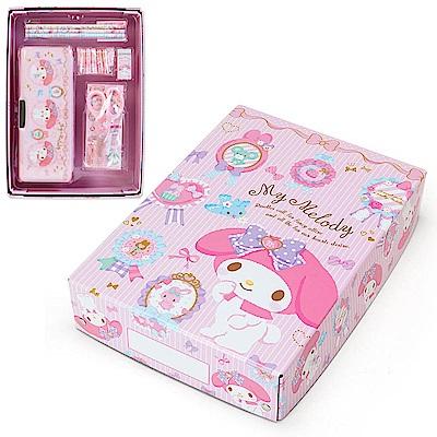 Sanrio 美樂蒂兒童基本文具禮盒組(蕾絲花圈)