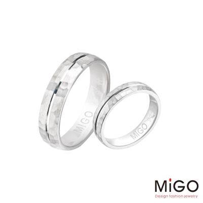 MiGO 愛的點滴純銀成對戒指