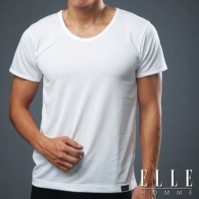 ELLE HOMME 吸濕排汗T恤《超值2件組》白色