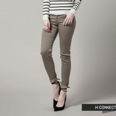 H:CONNECT 韓國品牌 女裝 - 顯瘦修身小腳褲- 橄欖(快)