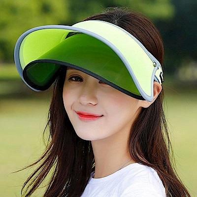 Decoy 機能透氣 雙層防曬彈性掀蓋遮陽帽 螢光綠