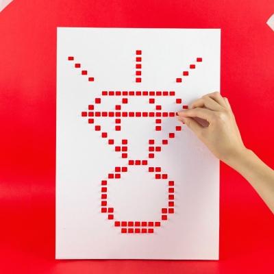 LAGO 像素密碼海報-熱情紅