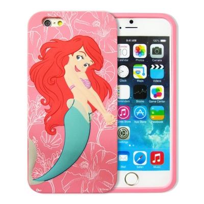 迪士尼正版授權 iPhone 6s 4.7吋 立體浮雕軟膠套手機殼(小美人魚)