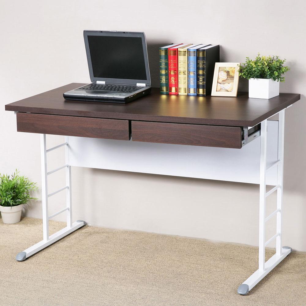 Homelike 馬克120x60辦公桌-加厚桌面(附二抽屜)