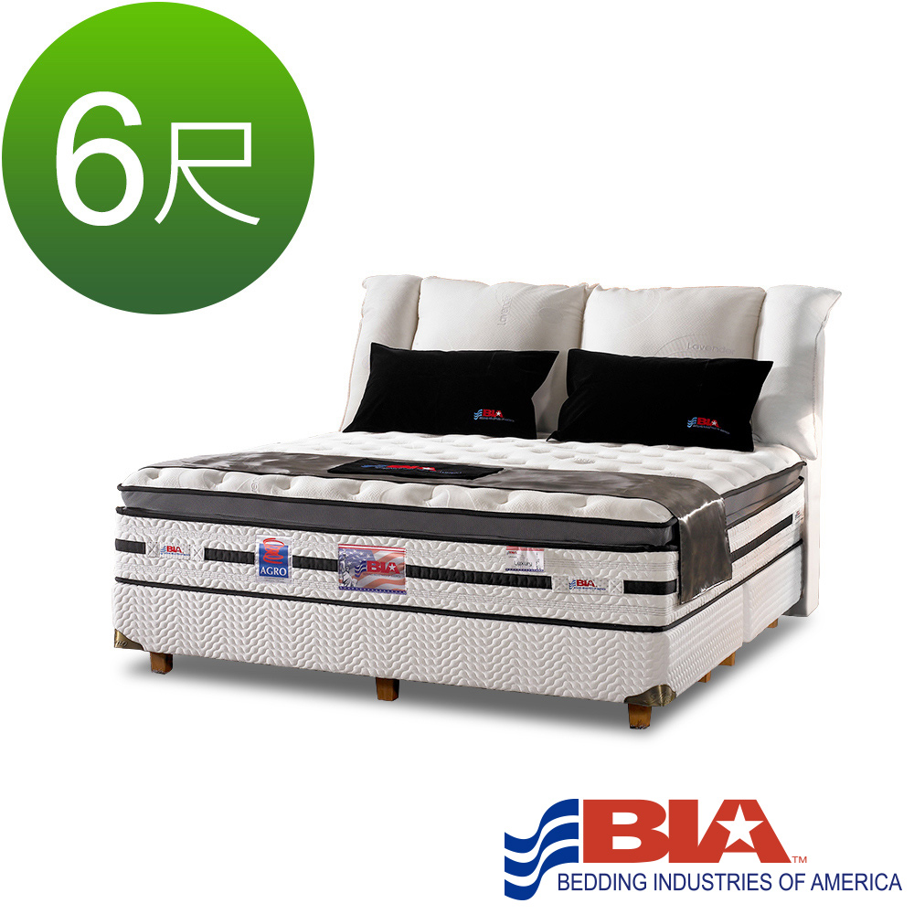 美國BIA名床-極致奢華 獨立筒床墊-6尺加大雙人