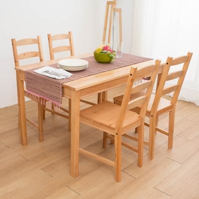佳櫥世界-瑪莎實木DIY一桌四椅-117.5x74x73cm