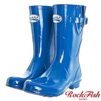 ROCKFISH 俏麗典雅短筒雨靴 繽粉系列 天空藍