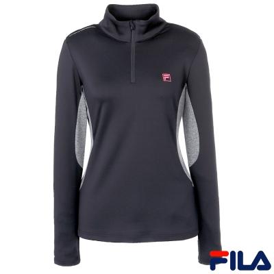 FILA女抗UV吸濕排汗T恤-黑-5TEQ-5319-BK