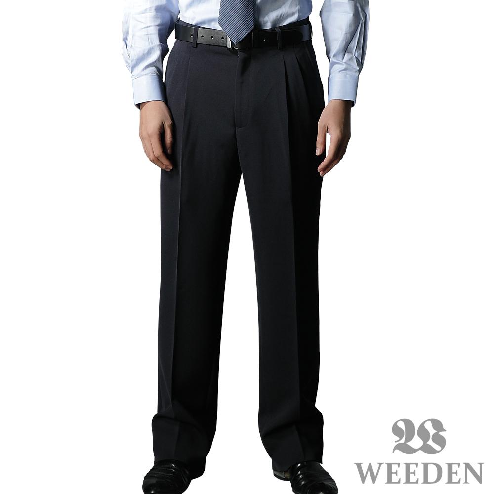 【WEEDEN】精緻纖維打摺西褲‧夜曲藍(兩件組)
