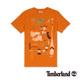 Timberland 男款焦橙色時尚創意印花