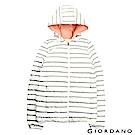 GIORDANO 女裝90%白鴨絨連帽撞色時尚輕薄羽絨外套 - 05 白間灰