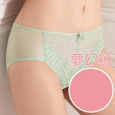 【思薇爾】挺玩美系列M-XXL蕾絲中腰三角內褲(夢幻粉)