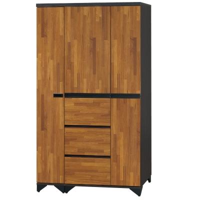品家居 克麗娜3.5尺開門組合衣櫃-113x55x196cm-免組