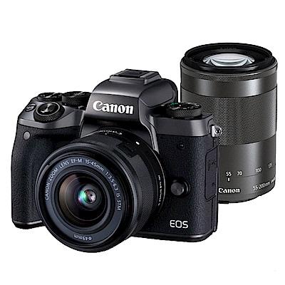 【快】Canon EOS M5+15-45mm+55-200mm 雙鏡組*(中文平輸)