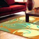 【范登伯格】奧瓦●柔亮絲質感地毯-蝶葉(亮橘)-100x140cm