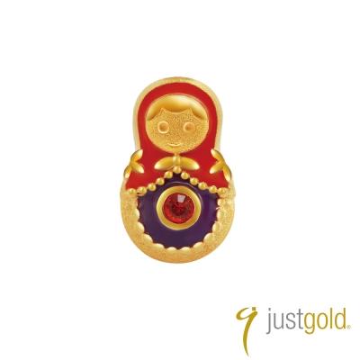 鎮金店Just Gold 黃金釉彩單耳耳環 繽紛派對 俄羅斯娃娃