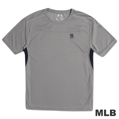MLB-紐約洋基隊反光合身吸濕排汗T恤-灰(男)