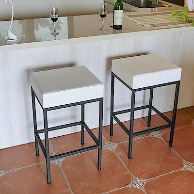 Amos-質感方形吧檯椅(2入)(40x35x68)