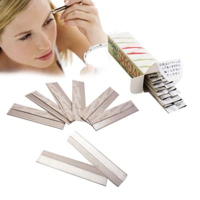 日本專業修眉刀片10入-不鏽鋼羽毛刀片-修臉-除毛