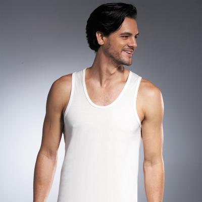 DADADO 基礎系列 PIMA棉 M-LL窄邊背心內衣(白)