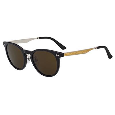 GUCCI-皇室風格紋路-太陽眼鏡-黑色-咖啡鏡片