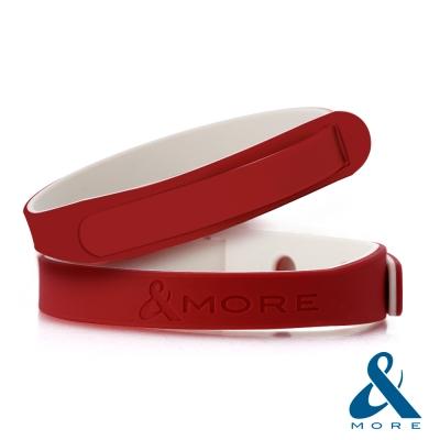 &MORE愛迪莫鈦鍺-ICOLOR愛玩色負離子運動手環(紅色)