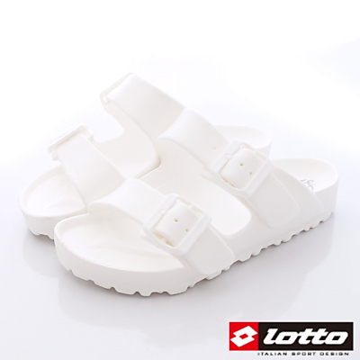 Lotto樂得-馬卡龍Q彈拖鞋系列-STH809蛋白(女段)