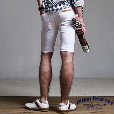 DITION-韓系SKINNY鋼印ST合身工作褲