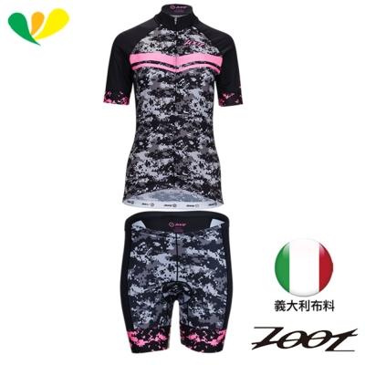 ZOOT 迷彩限定版(有袖)自行車衣 三鐵褲(女)(螢光粉)Z 1706003 + 33