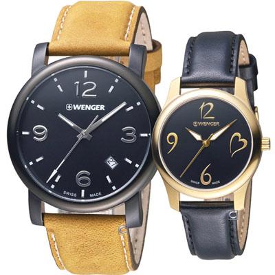 瑞士WENGER Urban 都會經典對錶(011041129+011421107)