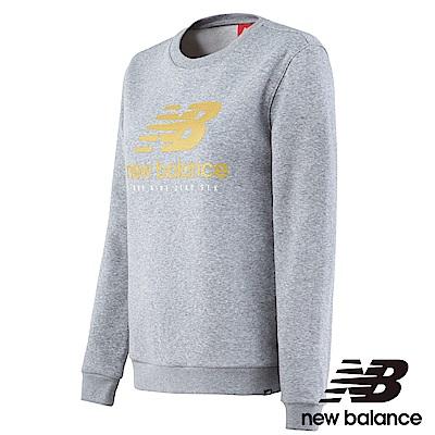 New Balance 刷毛長袖T恤 AWT73570AG 女性 淺灰