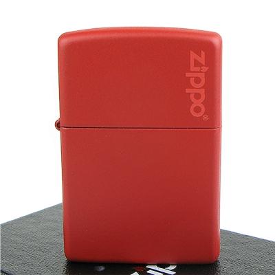 【ZIPPO】美系~LOGO字樣打火機~Red Matte紅色烤漆